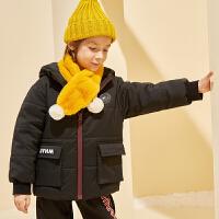 【冬清仓价:155】巴拉巴拉旗下巴帝巴帝2019冬男童中大童短款棉服时尚休闲儿童棉衣外套