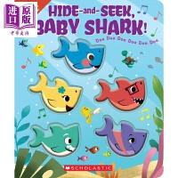 【中商原版】Hide-and-Seek, Baby Shark! 鲨鱼宝宝捉迷藏 全彩故事绘本 系列章节书 1~5岁