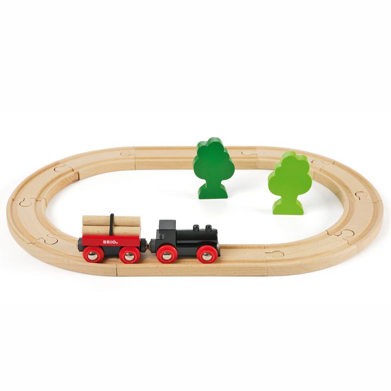 [当当自营]BRIO 经典圆形轨道套装 儿童益智拼插木制轨道小火车玩具 BR33042 【当当自营】BRIO的游乐世界 百年瑞典品牌 木质小火车的领军产品