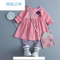 童装婴幼儿外出服套装0-1-2-3岁女春装韩版女童装春秋小女孩