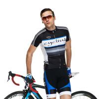 短袖骑行服套装男 夏季透气速干吸湿排汗山地自行车上衣短裤单车服雨果