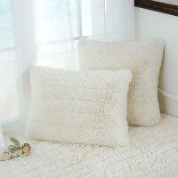 长毛绒办公室午睡枕汽车用靠枕抱枕含芯床头靠垫沙发腰枕靠背垫