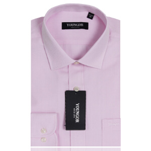 YOUNGOR雅戈尔粉色免烫长袖衬衫VP11811-33