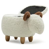 小羊毛绒玩具羊羊公仔布娃娃家用换鞋凳沙发凳可爱玩偶送女生