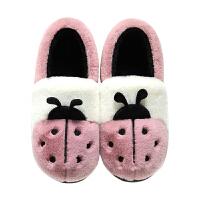 冬季棉拖鞋女士情侣居家居全包跟男加厚底保暖月子室内毛毛鞋毛绒