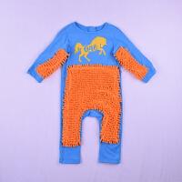 宝宝爬服连体拖把服婴儿连体衣懒人拖地爬服童装