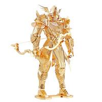 金属拼图模型凌弓骑士3D立体拼装益智玩具送朋友创意礼品 金色