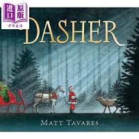 【中商原版】改变圣诞的小驯鹿 Dasher 圣诞主题 低幼童书 亲子绘本 圣诞老人 童话诗歌 精装 4~7岁 英文原版