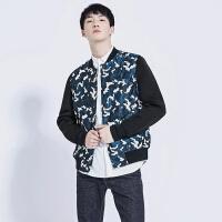 gxg.jeans男装秋季迷彩色青年修身修身棒球服夹克外套潮63921012