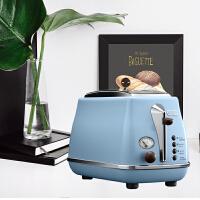 Delonghi/德龙 CTO2003(海洋蓝)家用复古系列多士炉 全自动烤面包机 早餐烤吐司机 配防尘盖 2片式 四
