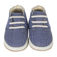 美国直邮/保税区发货 Robeez MINI SHOEZ 男童软底防滑学步鞋休闲款细格子 海外购