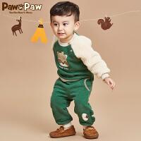 【2件2.5折 到手价:200元】Pawinpaw宝英宝卡通小熊童装冬款男女宝宝休闲套装婴幼儿卫衣裤