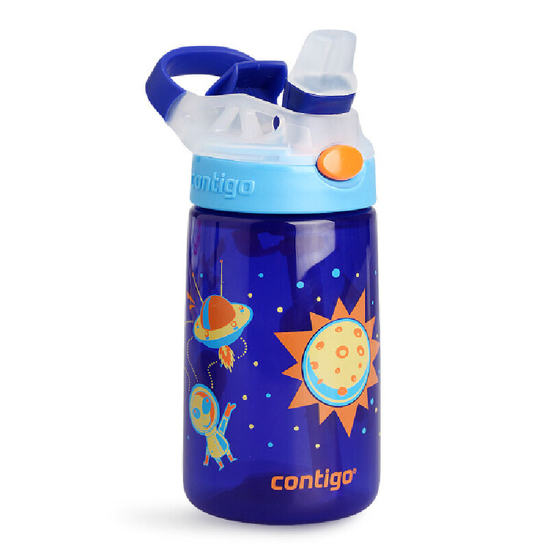美国Contigo康迪克吸管杯宝宝儿童水杯喝水杯婴儿学饮杯防漏杯子