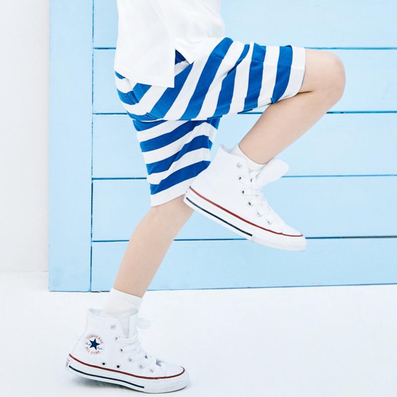 迷你巴拉巴拉男童夏季中裤2019夏新款儿童短裤条纹休闲裤子短款