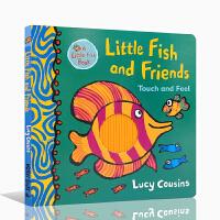 【全店300减100】进口英文原版小鱼和朋友 触摸和感觉精装Little Fish and Friends: Touch