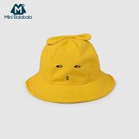 迷你巴拉巴拉男女童帽子儿童旅行帽2019春新款宝宝太阳帽渔夫帽