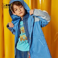 小虎宝儿男童中长款外套薄款2020春秋新款儿童韩版风衣中大童洋气