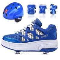 暴走鞋男儿童冬季单轮自动款轮滑鞋带灯男女童学生韩版双轮溜冰鞋