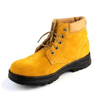 谋福 翻毛牛皮劳保鞋工作鞋户外鞋   抗菌/防臭/耐磨/透气 橡胶大底耐油酸碱