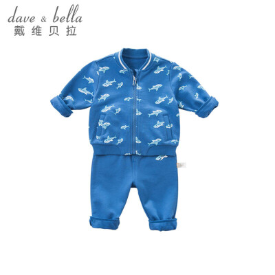 davebella戴维贝拉春秋季男宝宝卡通印花套装DBZ7246戴维贝拉 每周二上新  0-6岁品质童装