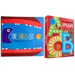 英文原版 儿童字母启蒙书+宝宝学数数纸板书 My Awesome Alphabet Book ABC 3D立体 字母书