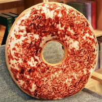 3D仿真甜甜圈食物抱枕可爱创意办公司坐垫背床头午休大靠垫枕头