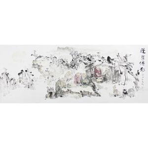 周弘光《蓬莱仙影》  179*70cm