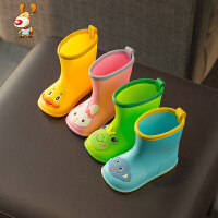 儿童雨鞋1-3岁宝宝雨靴男童女童幼儿胶鞋小孩防滑水鞋小童学生