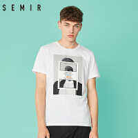 森马短袖t恤男2018夏季新款潮流圆领半袖个性男装韩版学生体恤