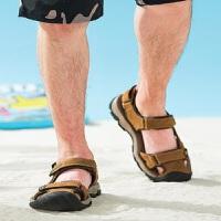 骆驼牌凉鞋男2019夏季新品海边凉鞋男包头潮流个性休闲鞋沙滩鞋男