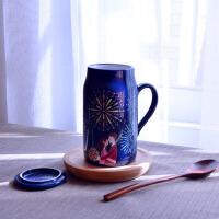 泰蜜熊浪漫之夜变色马克杯情侣陶瓷杯