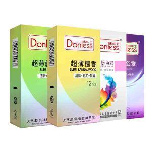 多乐士避孕套梦幻色彩/润滑/持久/超薄/颗粒系列5盒 安全套共60只(进口版)超薄润滑成人用品