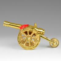 铜大炮模型办公室桌面摆件创意现代橱窗手工艺礼品时尚