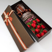 情人节鲜花速递同城北京石家庄11枝红玫瑰送花红玫瑰花束礼盒
