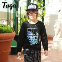 taga童装 儿童长袖T恤卫衣 男童卫衣抓绒加厚冬装新款中大童装