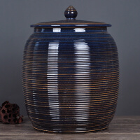 泡菜腌菜陶瓷米缸米桶带盖水缸米缸储米罐桶景德镇茶饼茶叶储物罐