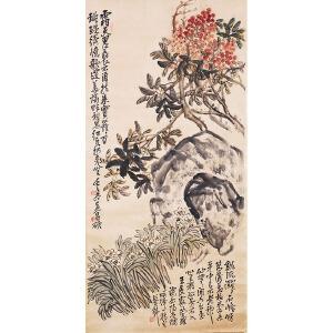 C072吴昌硕(附出版)《花卉》