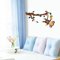 享家贴纸ss-58219顽皮猴 婚房卧室温馨浪漫客厅电视背景贴画 环保墙贴 贴纸 墙贴纸