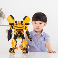 手办变形玩具金刚5大黄蜂恐龙汽车机器人儿童男孩