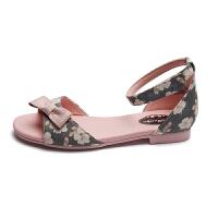童鞋夏季女童凉鞋公主鞋中大童露趾橡胶底
