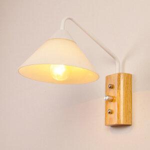幽咸家居创意木灯 木艺楼梯 玄关过道灯 卧室床头灯 玻璃实木壁灯YX-LMD-2123
