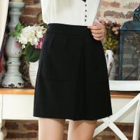 冬装新品高腰修身半身裙短裙大口袋裙子女S640214Q10