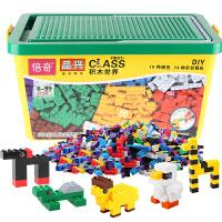 儿童积木桶底板拼装散装件积木大号收纳箱益智玩具