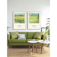 客厅沙发背景墙装饰画向日葵油画三联画挂画壁画