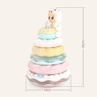 大号层层叠套环圈1-3岁玩具宝宝儿童叠叠乐玩具彩虹圈塔发光