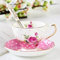 �W式骨瓷咖啡杯套�b下午茶具��意陶瓷英式�t茶杯碟套�b家用