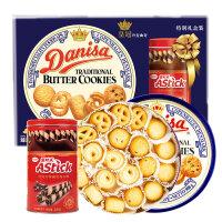 印尼进口 皇冠丹麦曲奇饼干908g罐装礼包 精致礼盒 休闲进口零食品