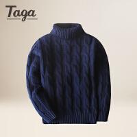TAGA童装 男童高领毛衣套头中大童毛衫春秋款儿童加厚打底针织衫潮