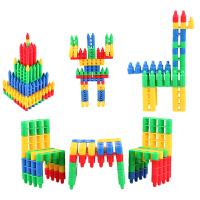 软积木头积木塑料拼插装玩具幼儿园