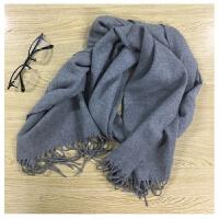慈姑冬季男士围脖男士围巾男女通用保暖围巾 WWJ灰色